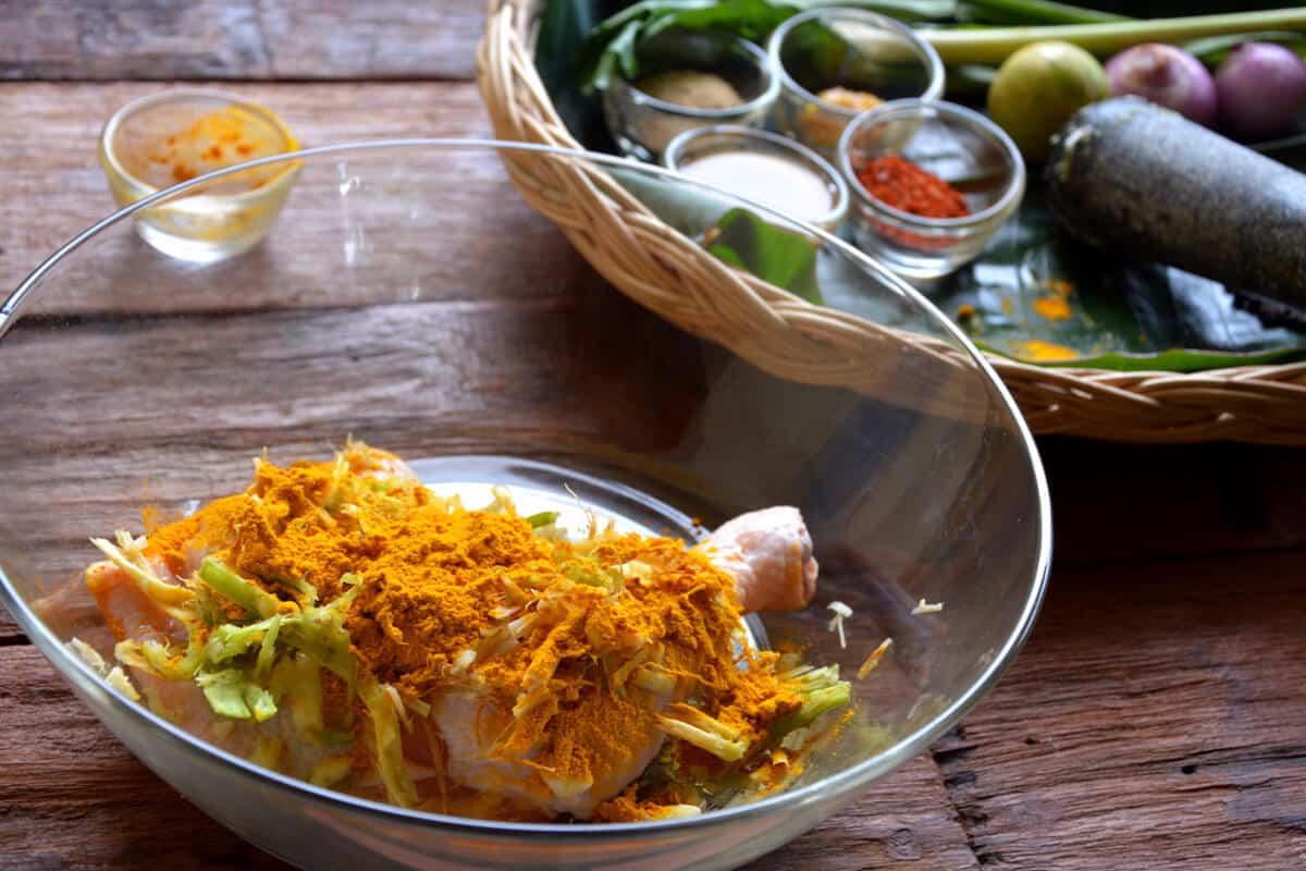 Nutrition Adventures golden tamarind chicken cooking