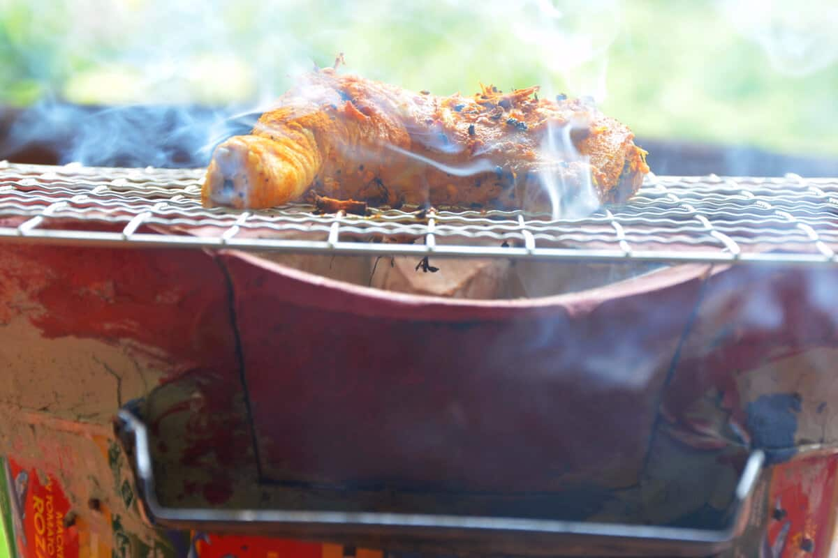 grilling up the golden chicken Nutrition Adventures recipe