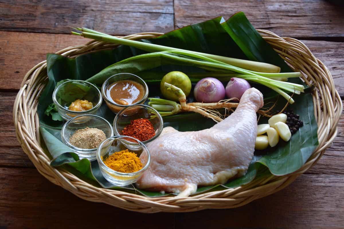 tamarind chicken pre-cook ingrdients - Nutrition Adventures