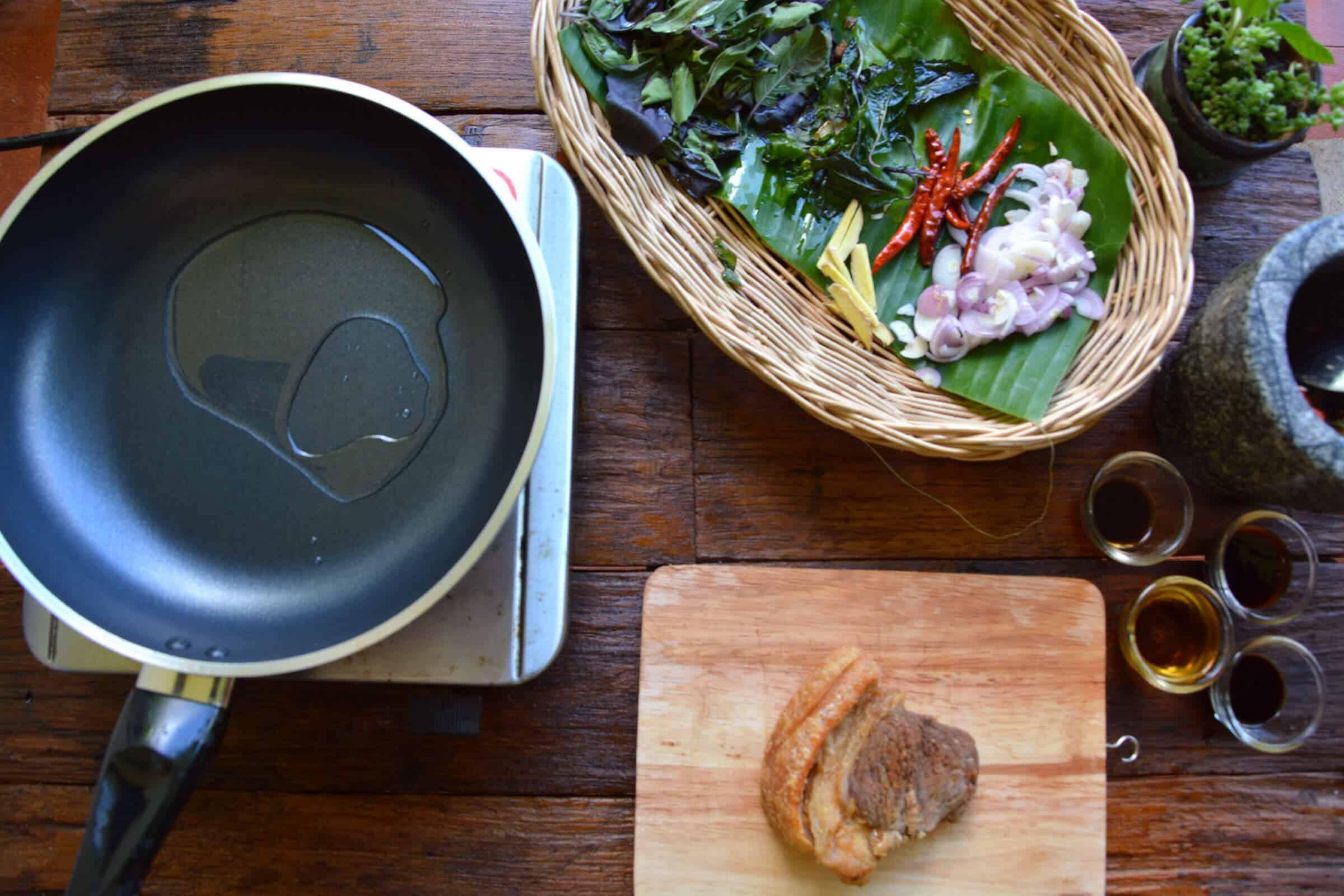 Thai Basil holy basil pork - pad krapow moo