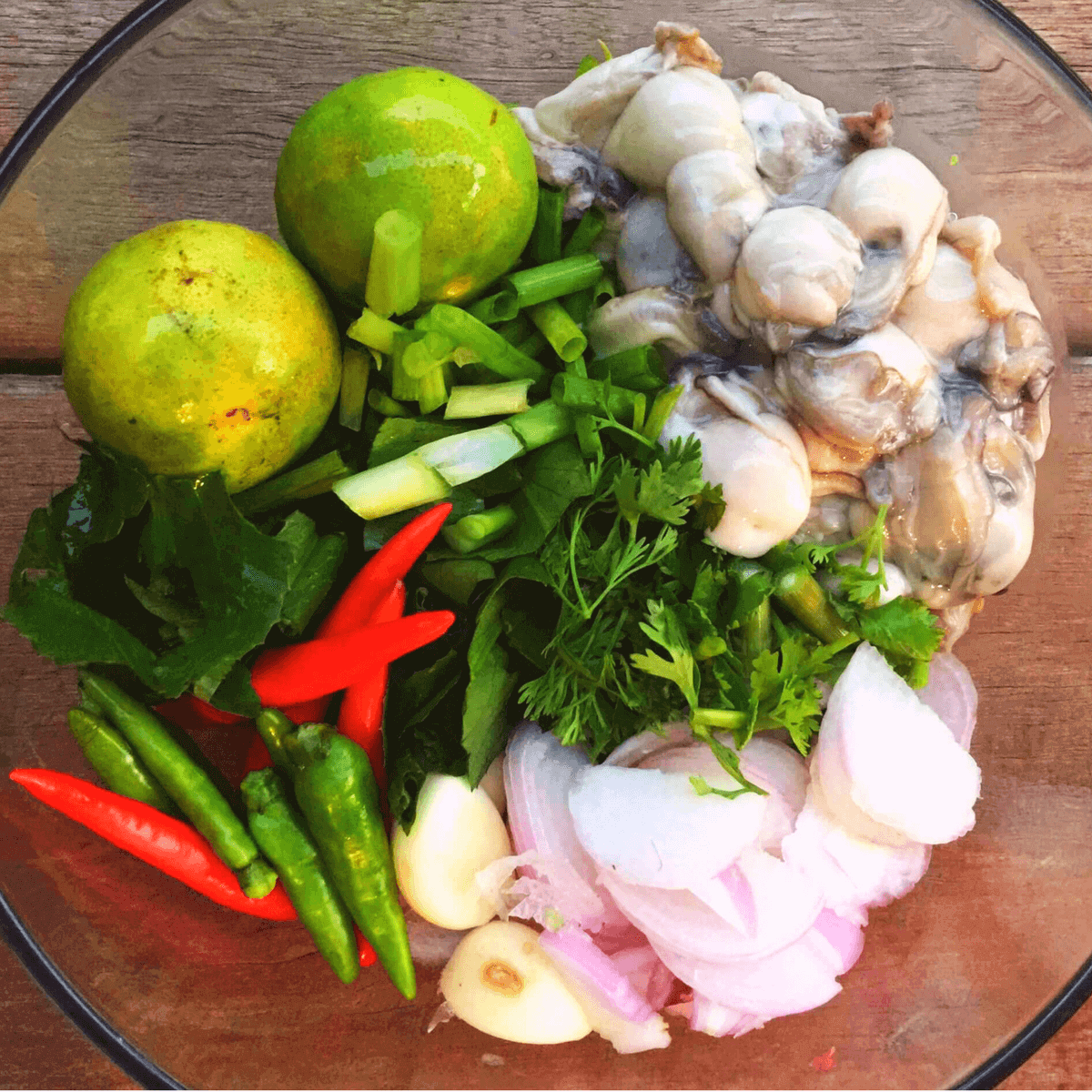 raw oysters recipe Thai