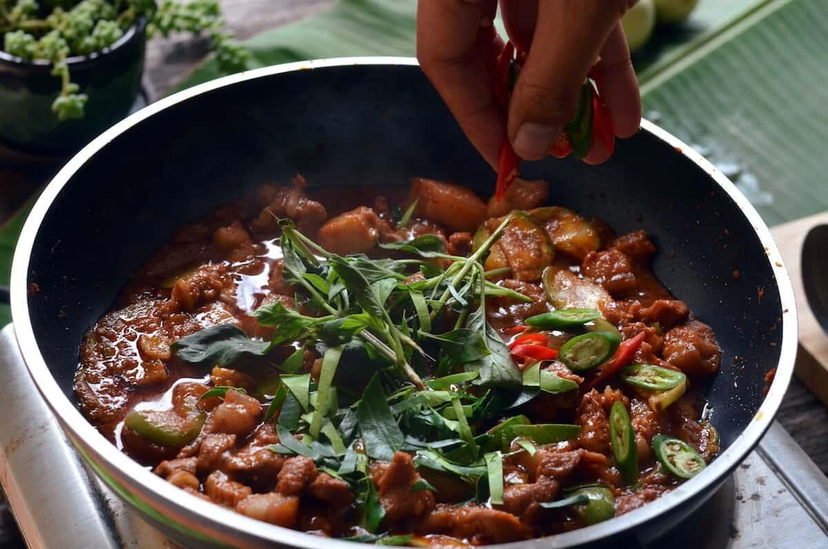 Panang Curry recipe herbs