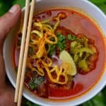 Khao Soi Recipe (Low-Carb Version) Traditional Thai Coconut Curry Soup with Pork