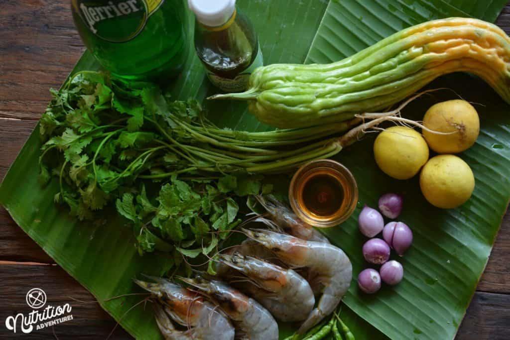 kung chae nampla recipe ingredients