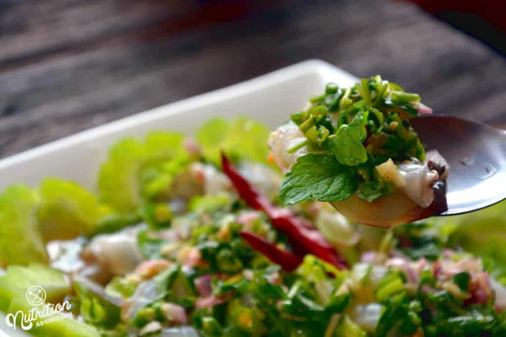 thai shrimp salad or prawns