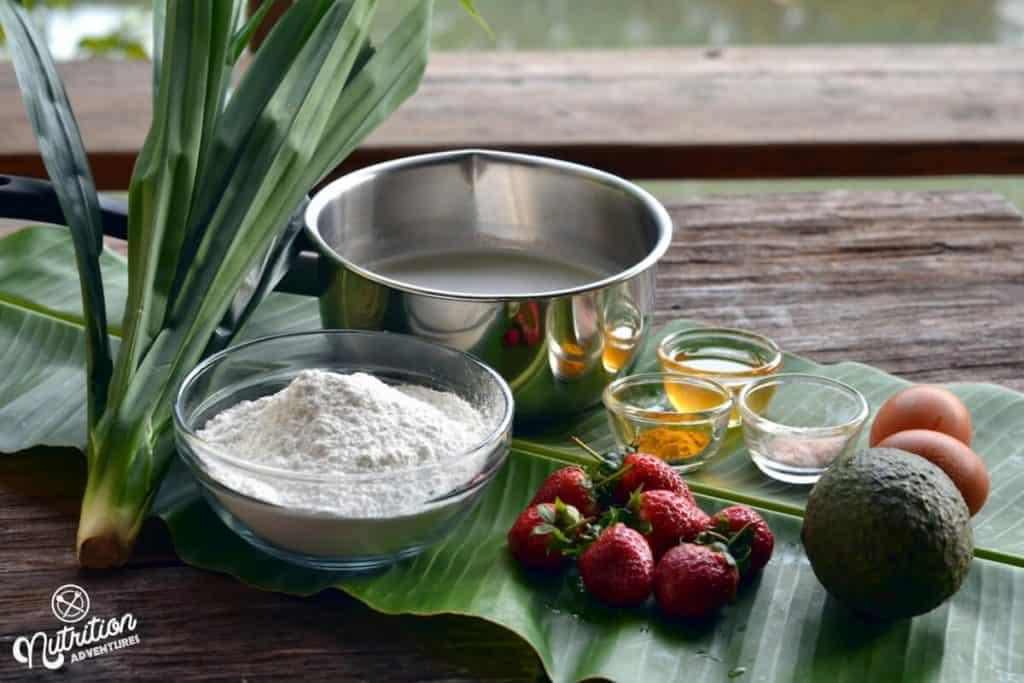 Bua Loi Thai Dessert Ingredients