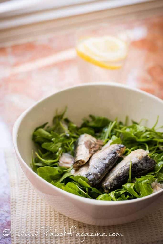 keto salad sardines